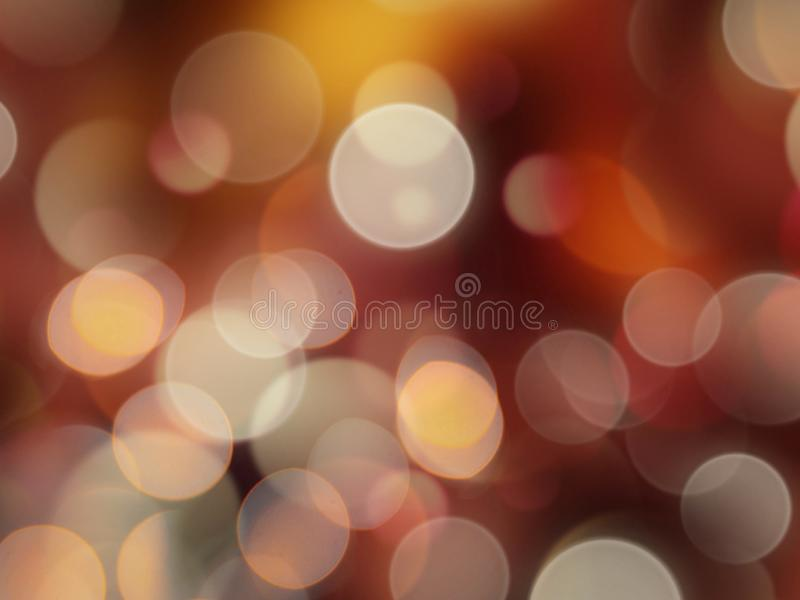 Round yellow and orange layered effect blurred light abstract background. Bright, fun, holiday, party, fantasy, black, illuminated, night, circle, wallpaper royalty free stock photography