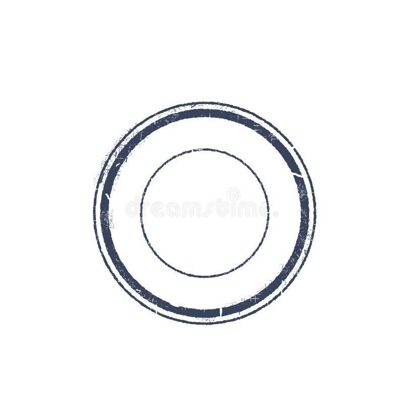Round znaczek ilustracji