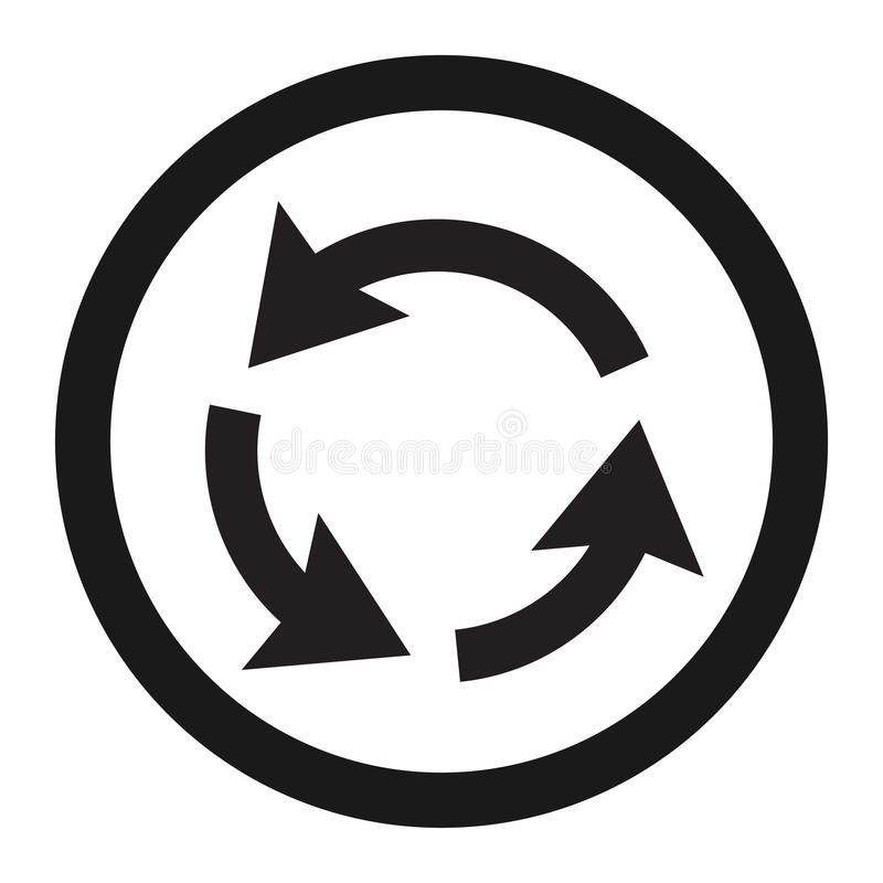 Roundabout Circulation sign line icon. Traffic and road sign, vector graphics, a solid pattern on a white background, eps 10 vector illustration