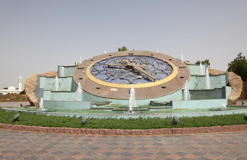 Roundabout clock in al ain stock image image of time for Diwan roundabout al ain