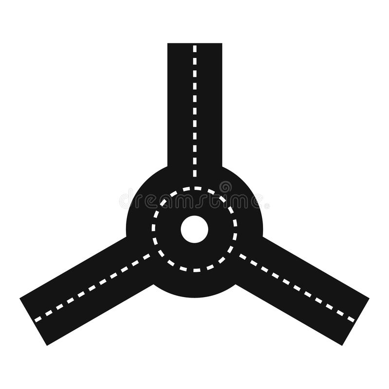 Roundabout icon, simple style. Roundabout icon. Simple illustration of roundabout vector icon for web vector illustration