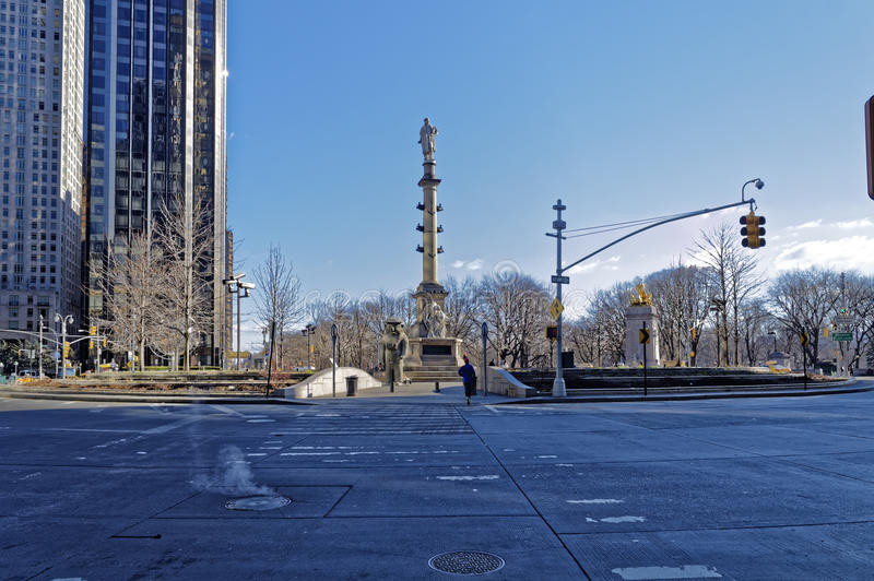 Roundabout in new york city stock images