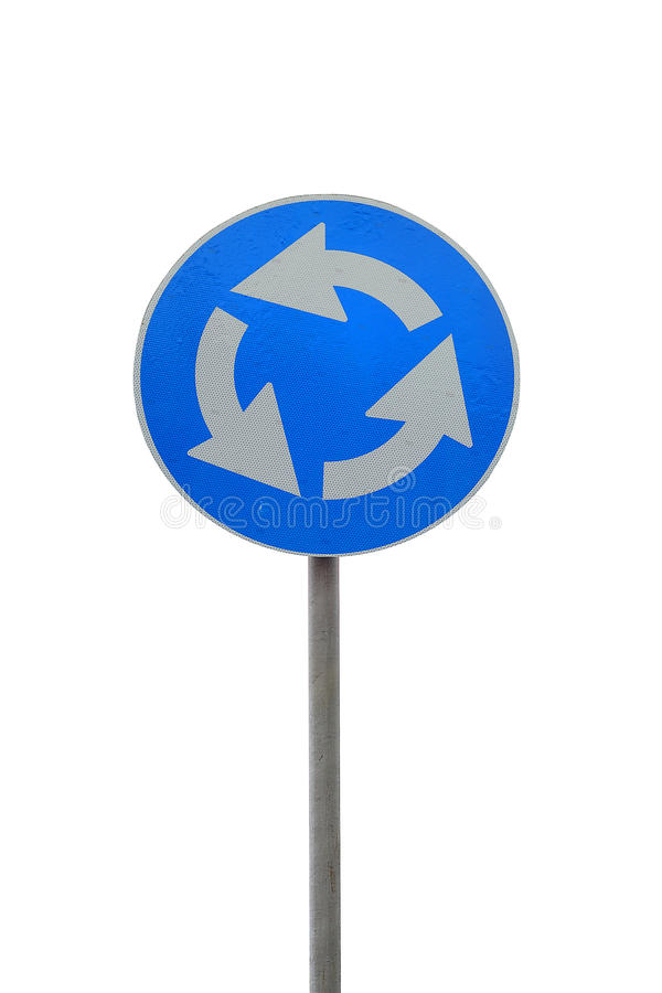 Download Roundabout Road Sign Royalty Free Stock Photos - Image: 12113018