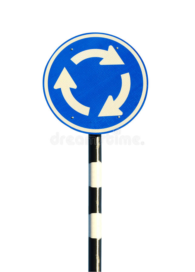 Roundabout sign royalty free stock image