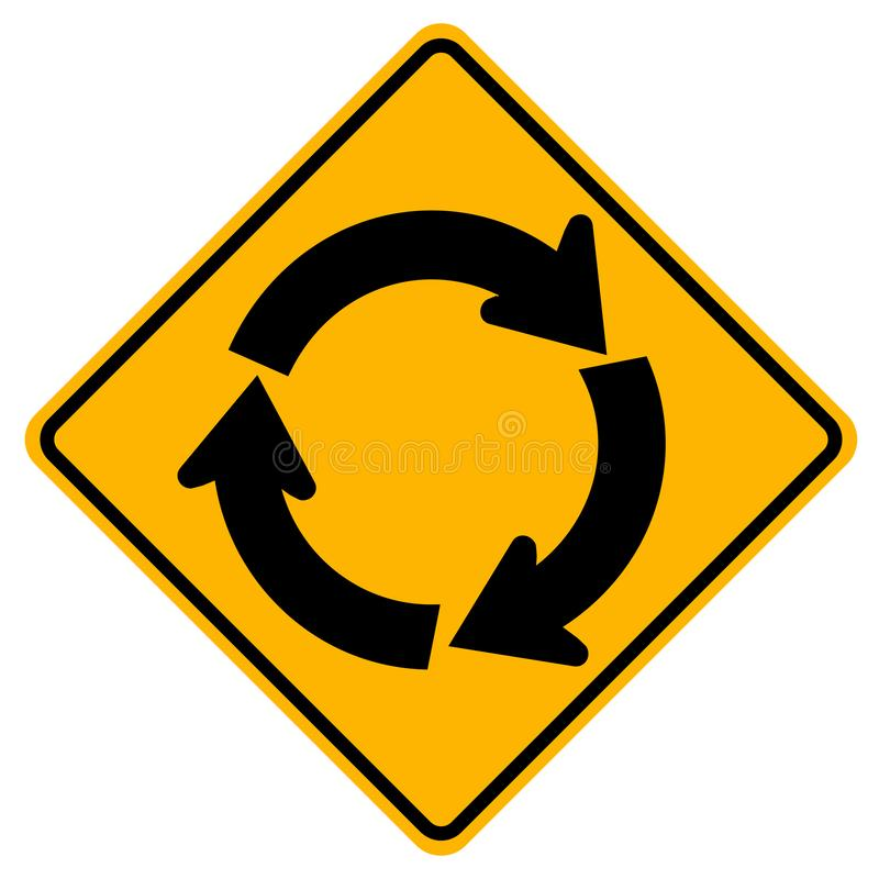 Free Roundabout Traffic Road Sign,Vector Illustration, Isolate On White Background Icon. EPS10 Stock Image - 143554381