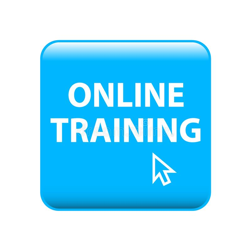 Online training. Web button - editable vector illustration on isolated white background royalty free illustration