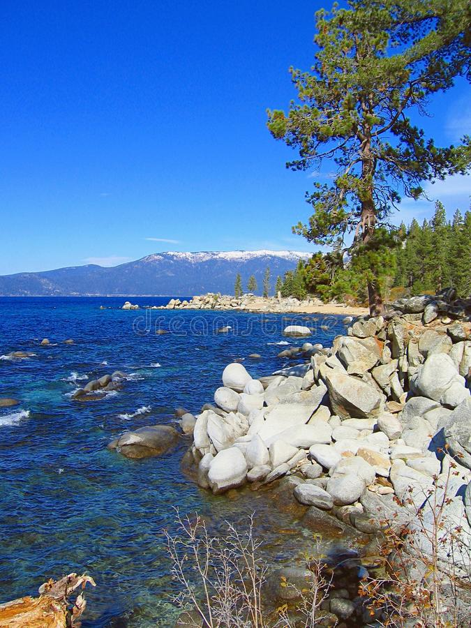 Rounded Boulders at Chimney Rock, Lake Tahoe Nevada State Park, Nevada royalty free stock image