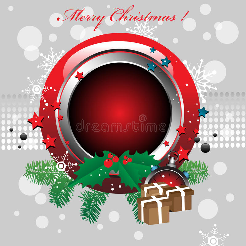 Rounded Christmas Frame Royalty Free Stock Photos