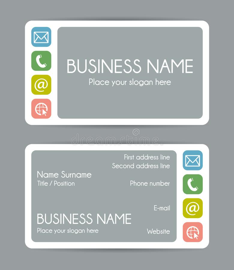 Rounded corner business card template vector set stock vector download rounded corner business card template vector set stock vector illustration of address wajeb Choice Image