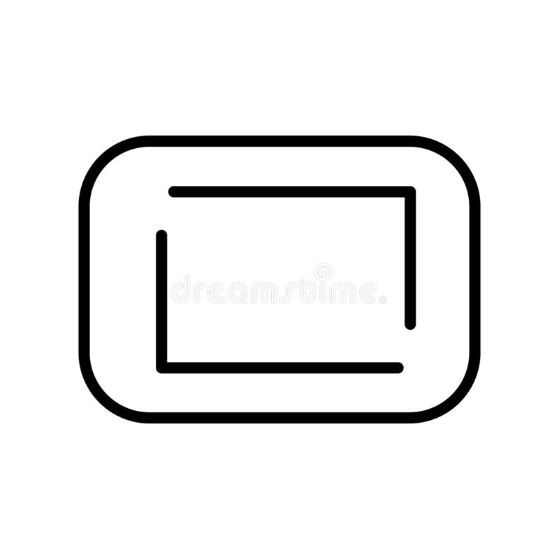 Rounded Corners square icon vector sign and symbol isolated on white background, Rounded Corners square logo concept. Rounded Corners square icon vector isolated stock illustration