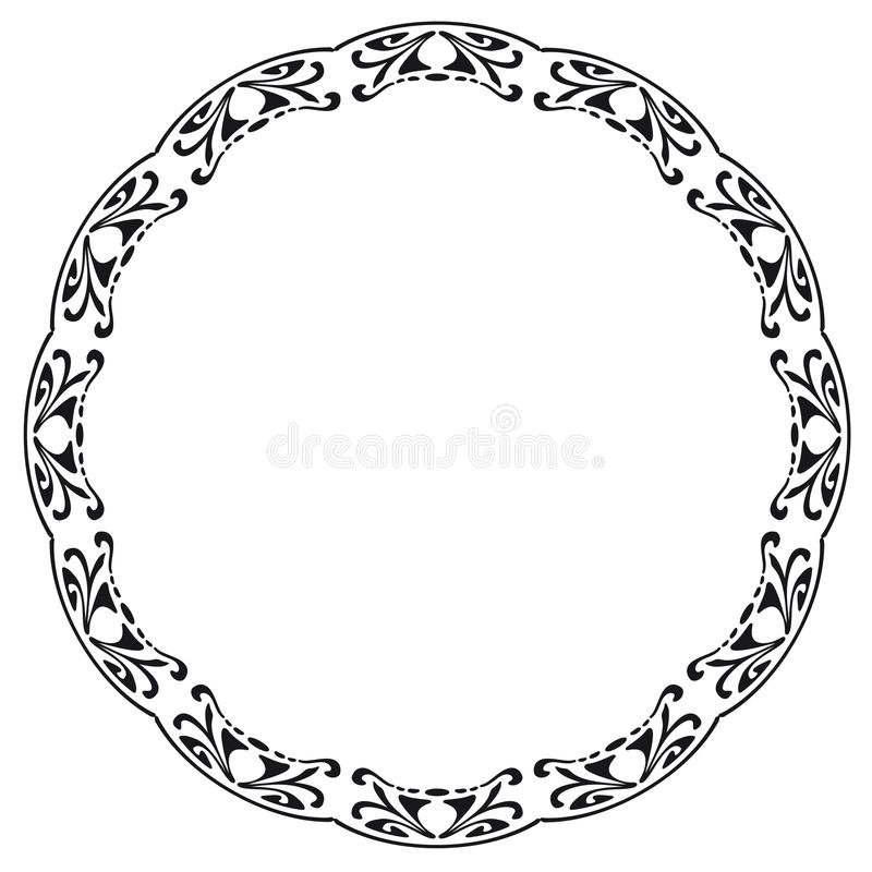 Download Rounded frame stock vector. Image of nouveau, cyrcle - 25183665