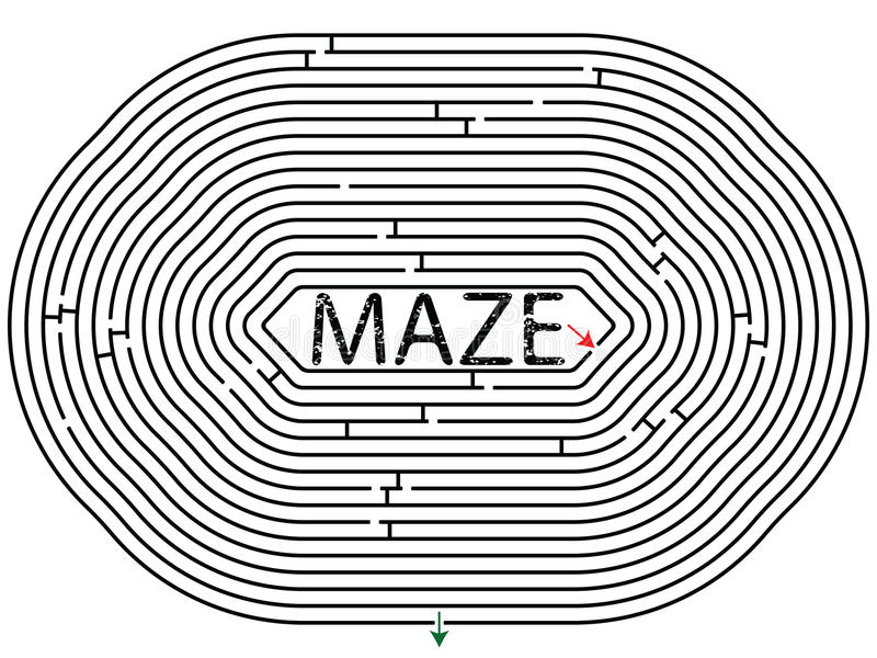 Download Rounded maze stock vector. Image of object, first, graphic - 17324595