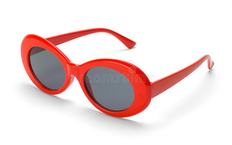 Rounded Red Sun Glasses stock photos