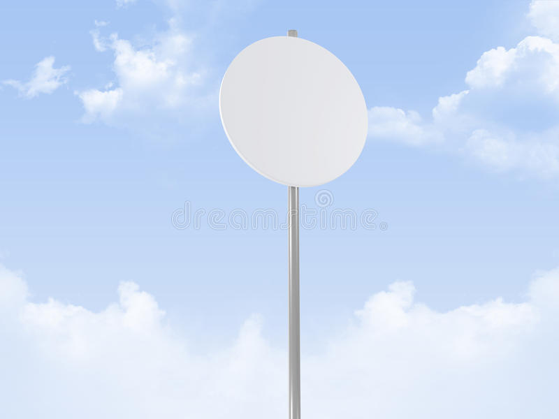 Rounded Road Sign royalty free illustration
