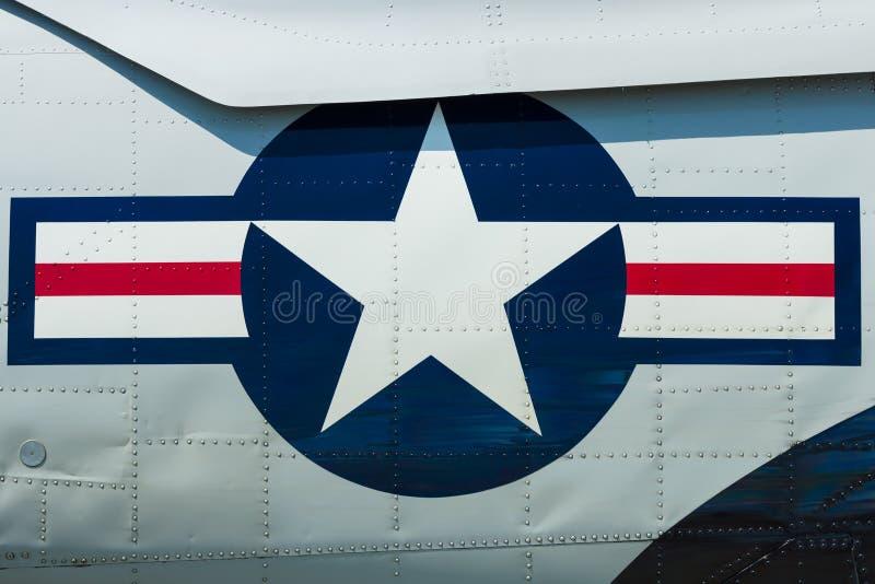 Roundel av USA-flygvapnet arkivbild
