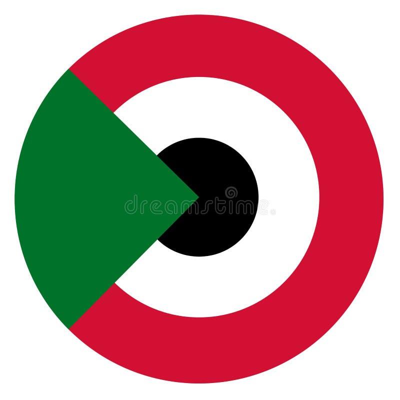 Roundel del país de Sudán ilustración del vector