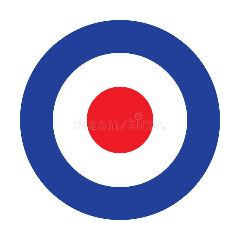 Roundel för ändrings-målR.A.F. Royal Air Force emblemsymbol royaltyfri illustrationer