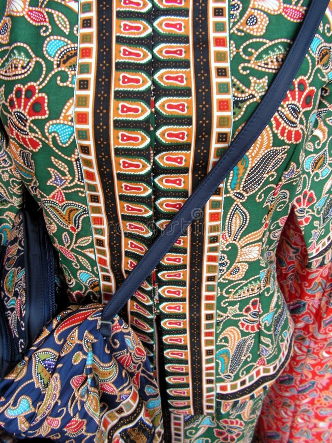 Roupa étnica do malay fotografia de stock royalty free