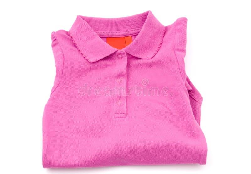 Roupa cor-de-rosa do bebé fotografia de stock royalty free
