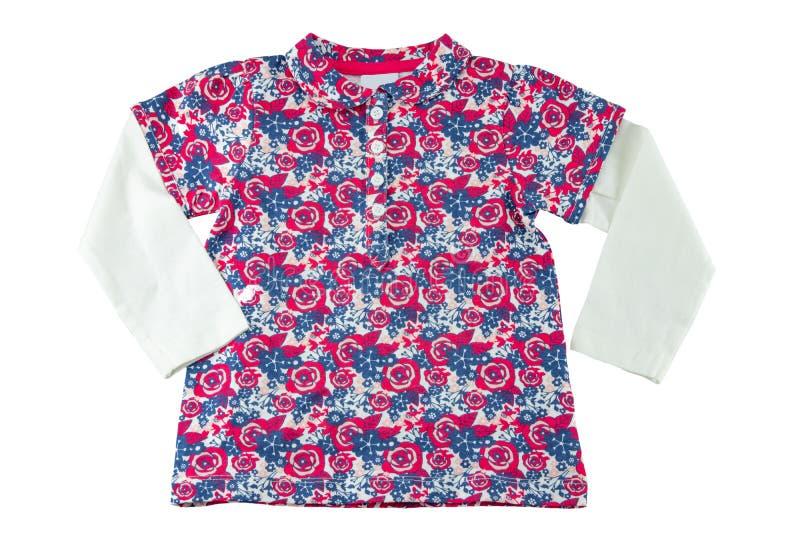 Roupa das meninas T-shirt elegante da menina com cópia floral fotos de stock royalty free