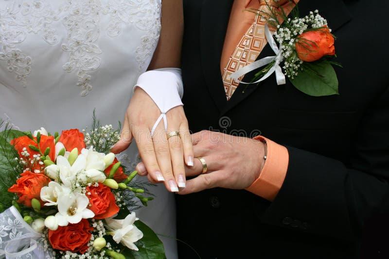 Roupa do casamento fotografia de stock