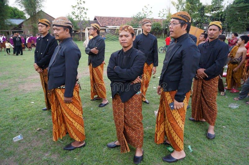 Roupa do Javanese fotografia de stock