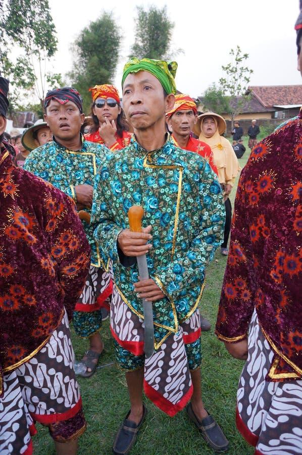 Roupa do Javanese fotografia de stock royalty free