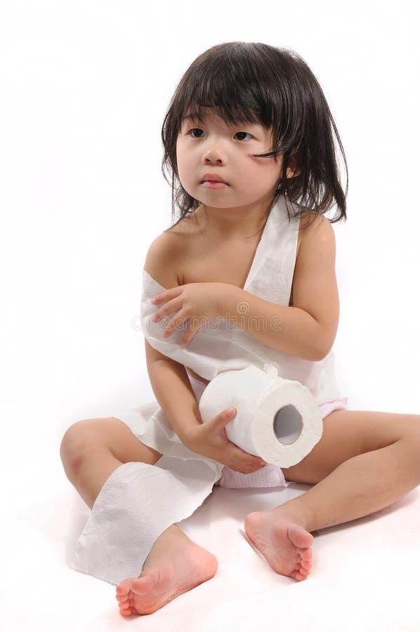 Roupa do tecido de banheiro foto de stock