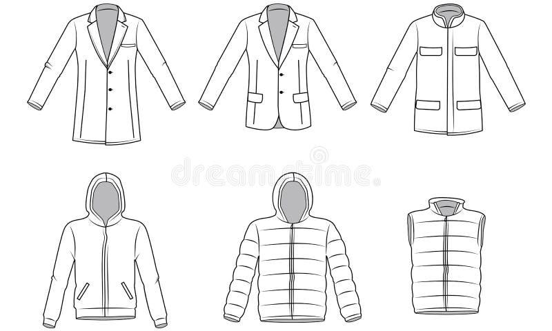 Roupa do vestuário dos homens ilustração do vetor