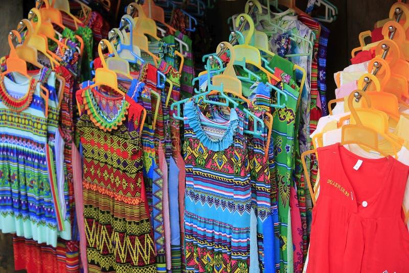 Roupa para mulheres na cidade de Sapa ` imagem de stock royalty free