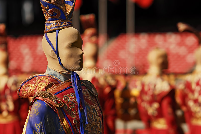 Roupa tradicional chinesa imagens de stock royalty free