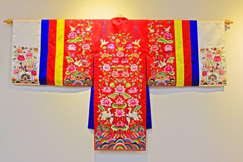 Roupa tradicional de Coreia Hanbok imagens de stock royalty free