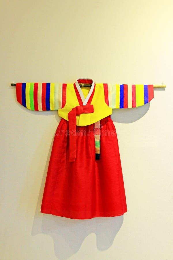 Roupa tradicional de Coreia Hanbok fotografia de stock royalty free