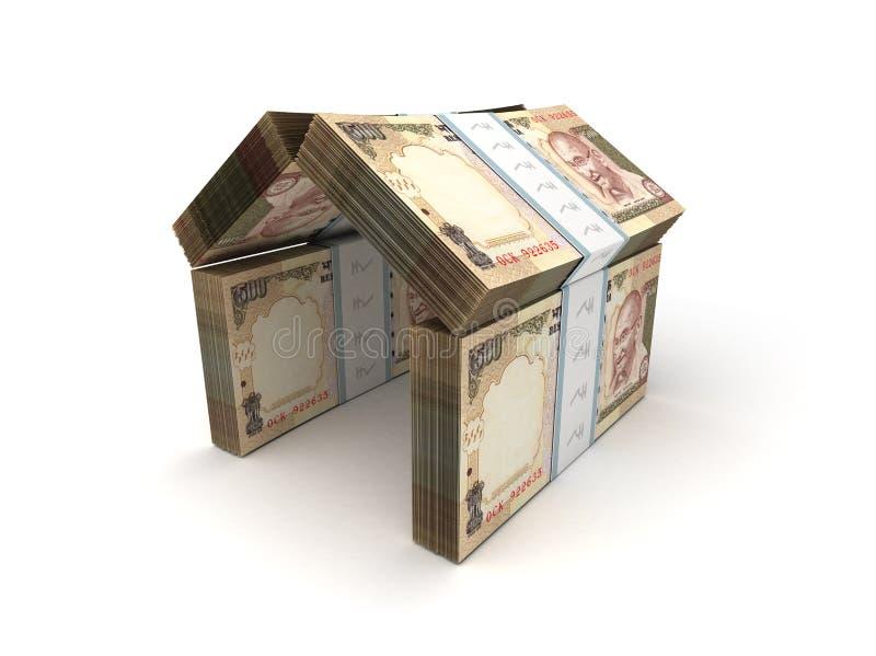 Roupie indienne de concept de Real Estate illustration libre de droits