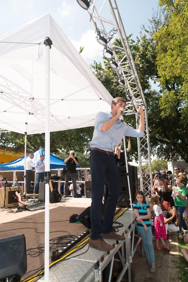 ` Rourke Demócrata Texas Campaigns de Beto O para el senado imagen de archivo libre de regalías