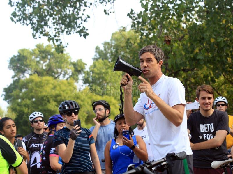 Rourke för Beto nolla-` spring för Texas Senate arkivbilder