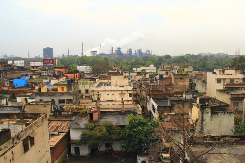 Rourkela. Indian Steel city Rourkela with steel plant in background royalty free stock photography