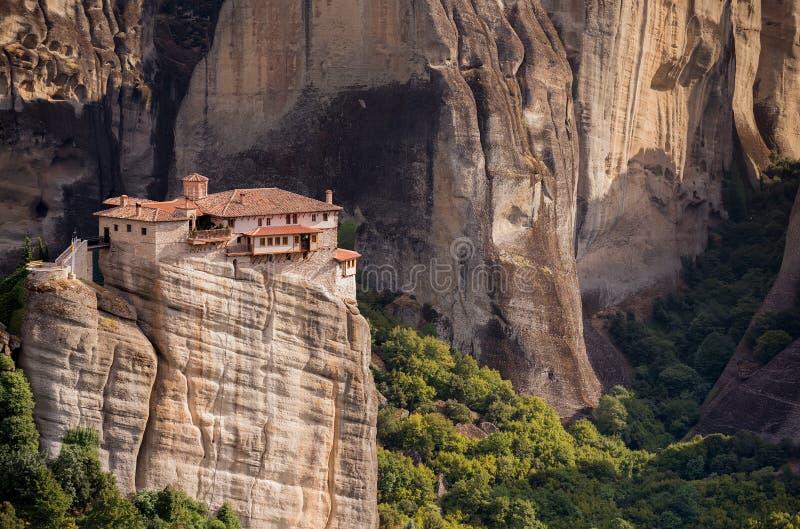 Rousanou修道院,迈泰奥拉,希腊 库存照片