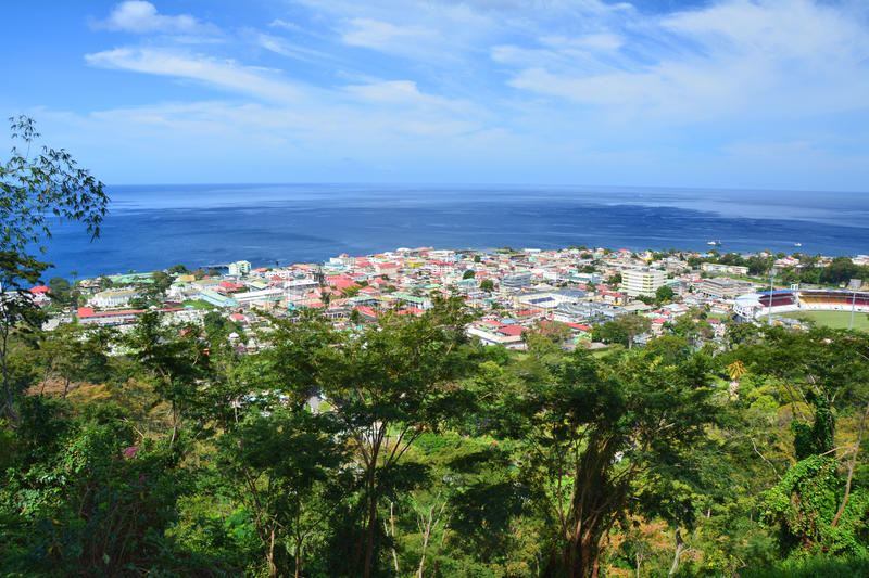 Rouseau, Dominica eiland royalty-vrije stock fotografie