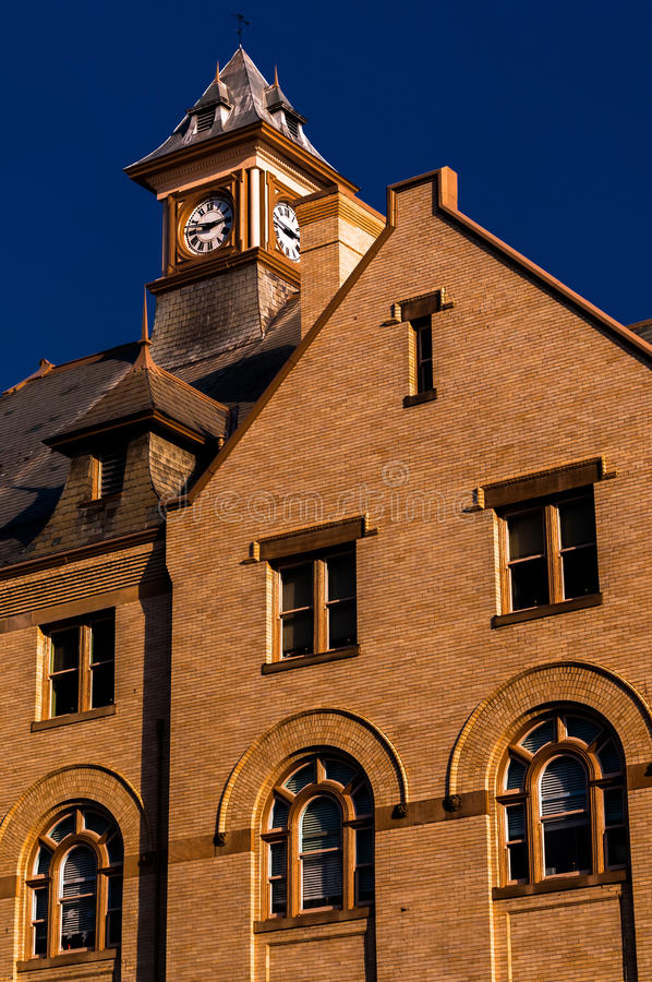 Rouss City Hall, in downtown Winchester, Virginia. stock photography