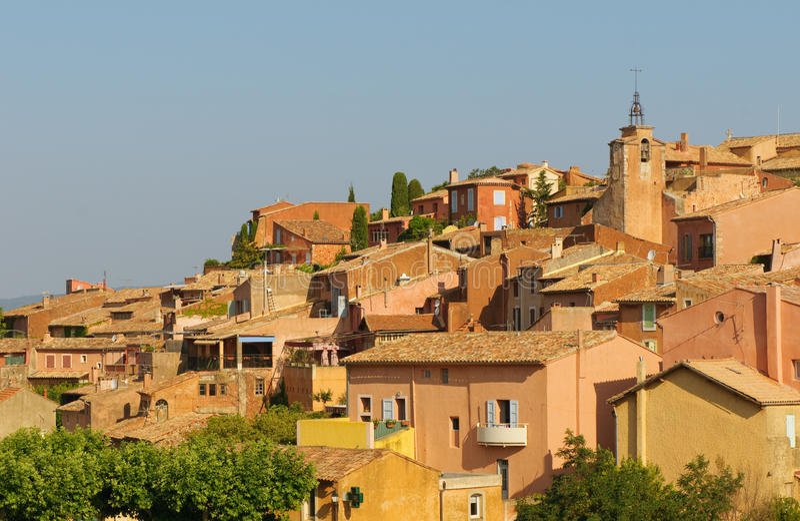 roussillon provencal wioska obrazy royalty free