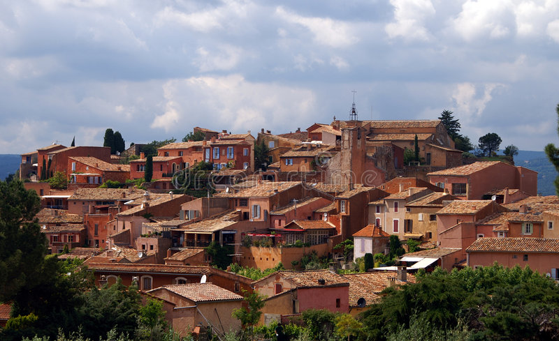 Roussillon In The Provence Stock Images