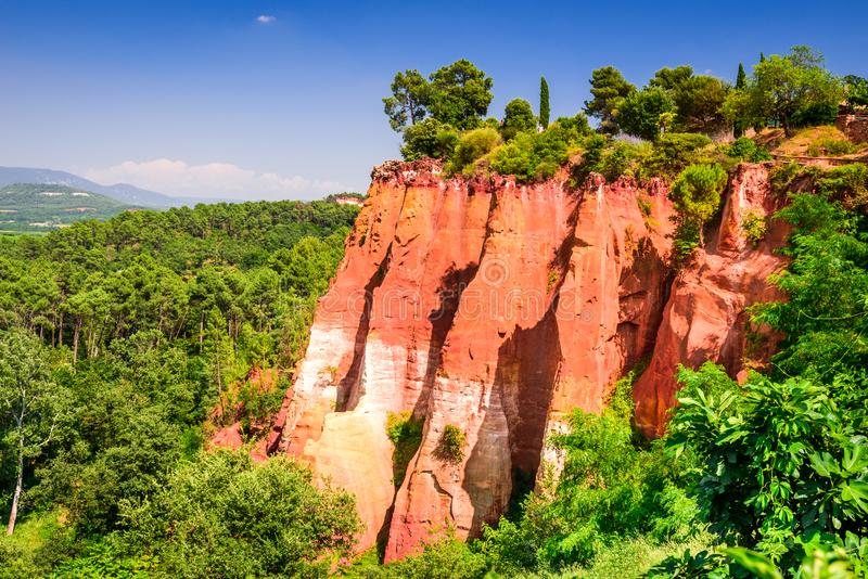 Roussillon, Provence em França fotografia de stock royalty free