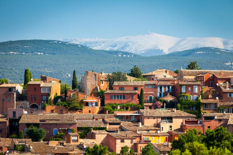 Village Roussillon in Provence, France royalty free stock photos