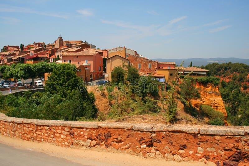 Roussillon, Provence, Frankreich stockfotos