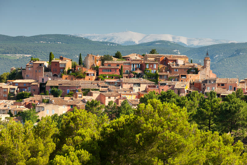 Roussillon village in Provence, France royalty free stock photography
