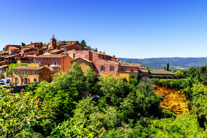 Roussillon village royalty free stock images