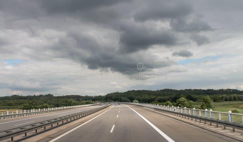 Route à l'avenir photo libre de droits