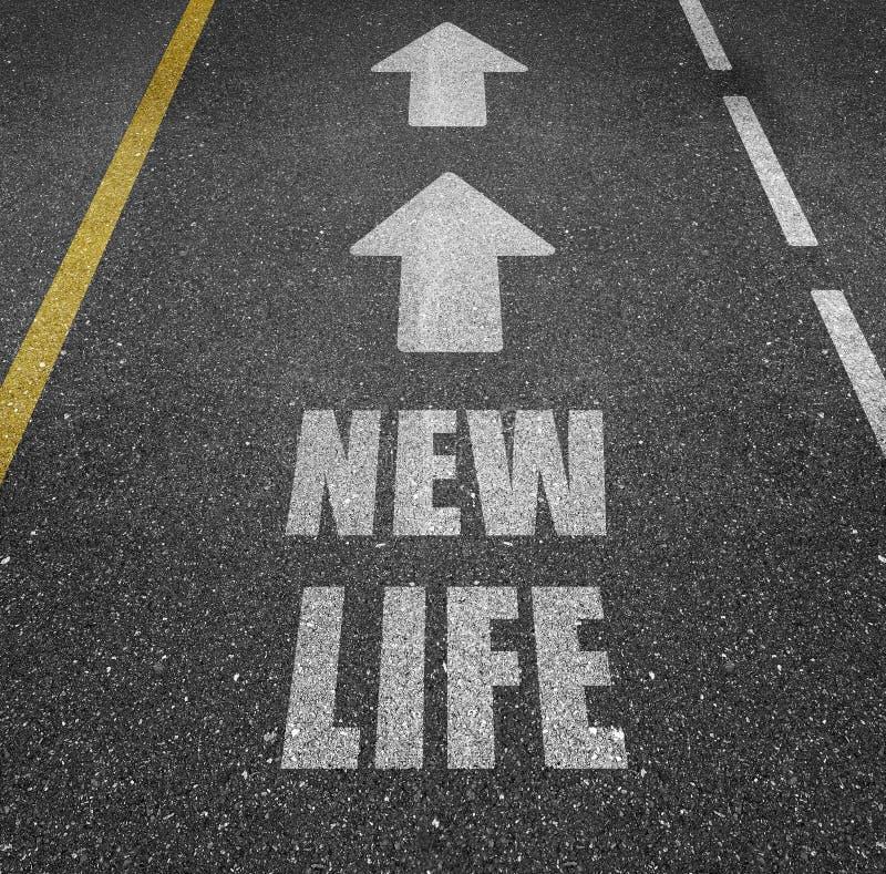 Route à la nouvelle vie photo libre de droits