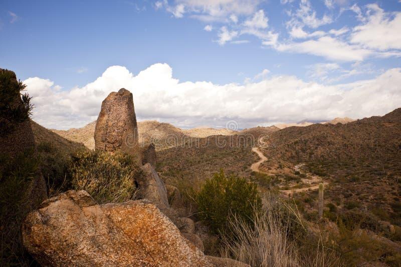Route à la région sauvage des crêtes de l'Arizona quatre photo libre de droits